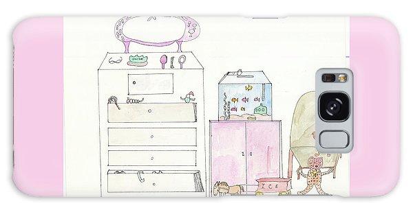 Pink Dolly Bedroom Galaxy Case