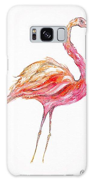 Pink Flamingo Bird Galaxy Case