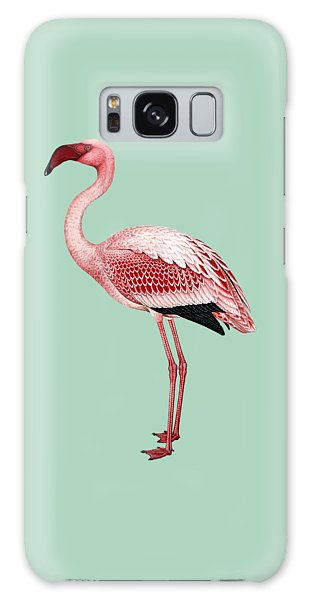 Pink Flamingo Isolated Galaxy Case