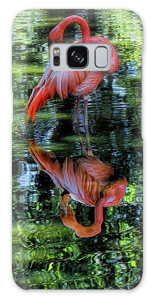 Pink Flamingo Galaxy Case