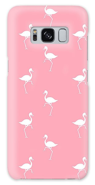 Cottage Galaxy Case - Pink Flamingos Pattern by Christina Rollo