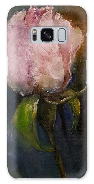 Pink Floral Bud Galaxy Case by Michele Carter