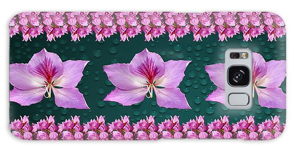 Pink Flower Arrangement Galaxy Case by Gary Crockett