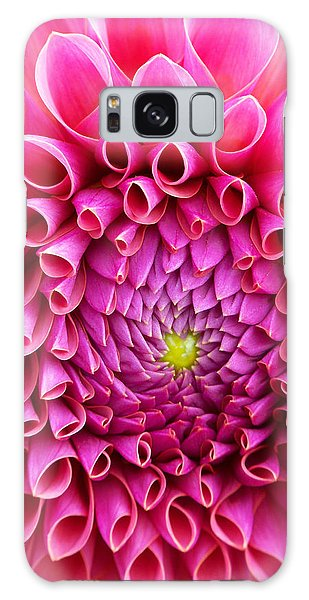 Pink Flower Close Up Galaxy Case