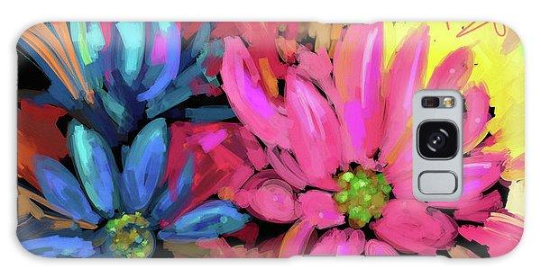 Pink Flower Galaxy Case