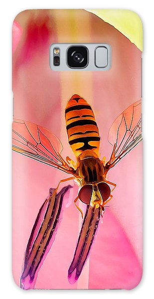 Pink Flower Fly Galaxy Case