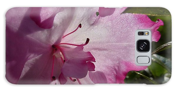 Pink Flowers 1 Galaxy Case by Jean Bernard Roussilhe