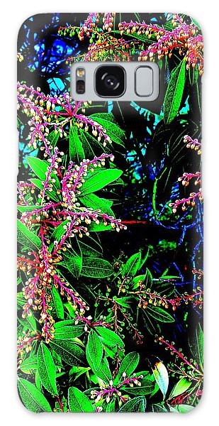 Pink Flowers Galaxy Case