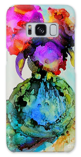 Galaxy Case featuring the painting Pink Flowers In A Vase by Priti Lathia