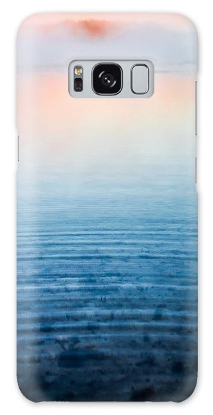 Pink Fog At Sunrise Galaxy Case by Shelby  Young