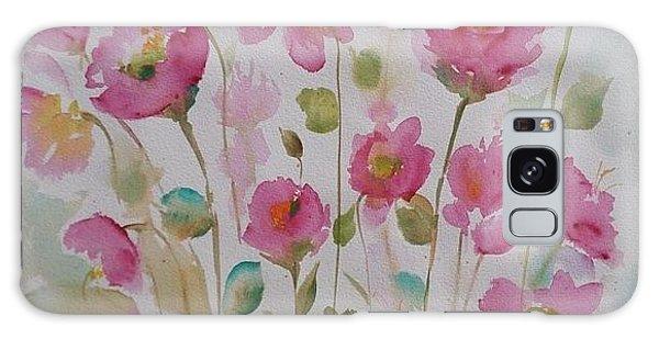 Pink Garden 2  Galaxy Case by Kathy  Karas