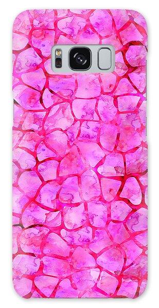 Pink Giraffe Print Galaxy Case