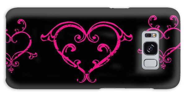 Pink Hearts  Galaxy Case by Swank Photography