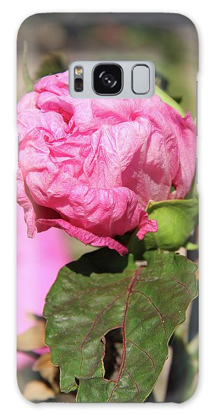 Pink Hibiscus Bud Galaxy Case