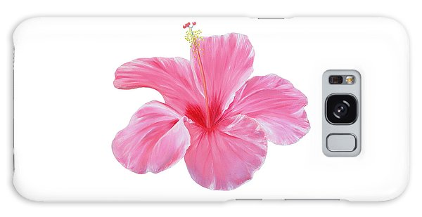 Galaxy Case featuring the painting Pink Hibiscus by Elizabeth Lock