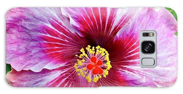 Pink Hibiscus Joyous Cosmology Galaxy Case