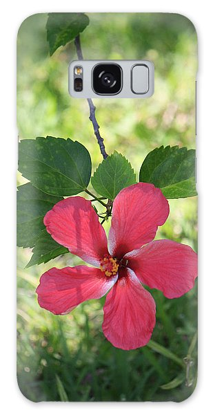 Pink Hibiscus  Galaxy Case
