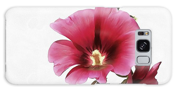 Pink Hollyhock Galaxy Case by Tracey Harrington-Simpson