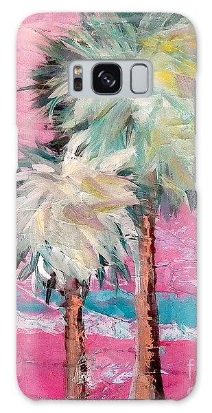 Pink Horizon Palms Galaxy Case