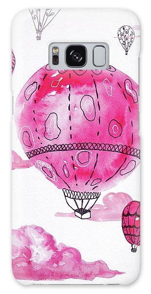Pink Hot Air Baloons Galaxy Case