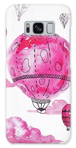 Pink Hot Air Baloons Galaxy Case