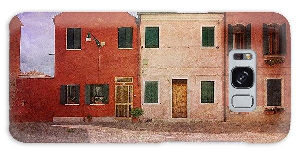 Pink Houses Galaxy Case by Anne Kotan
