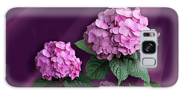 Pink Hydrangea Galaxy Case by Judy Johnson