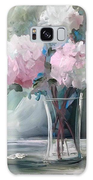 Pink Peonies Galaxy Case by Terri Einer