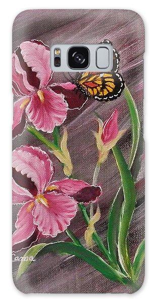 Pink Iris Galaxy Case