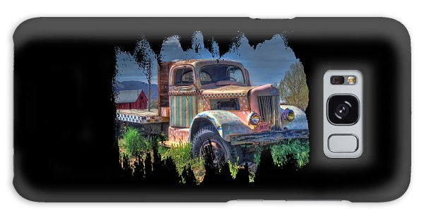Classic Flatbed Truck In Pink Galaxy Case
