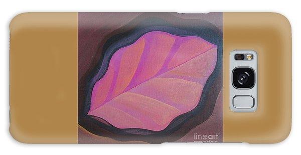 Pink Leaf Galaxy Case