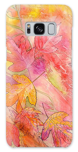 Pink Leaves Galaxy Case