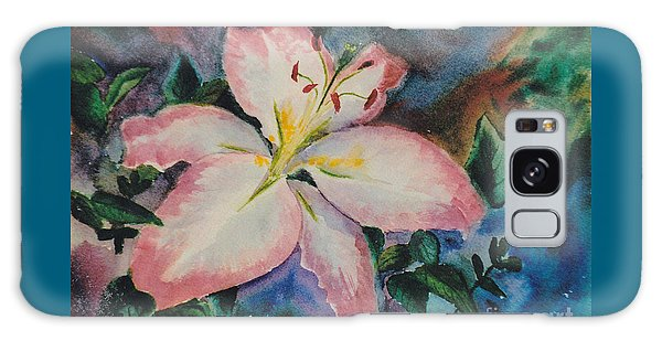 Pink Lily Galaxy Case by Brenda Thour