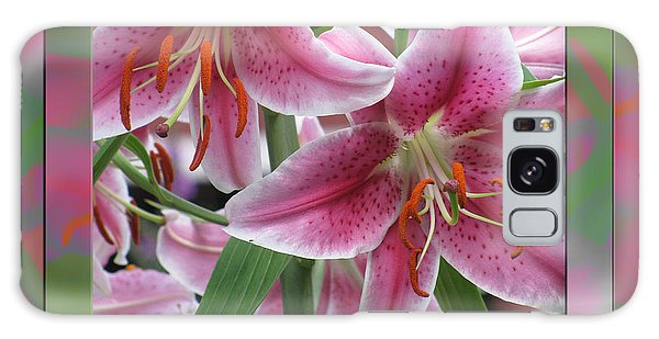 Pink Lily Design Galaxy Case