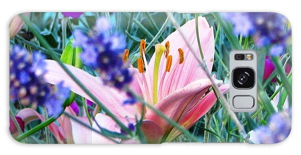 Pink Lily In The Lavender Galaxy Case