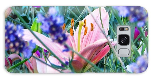 Pink Lily In The Lavender Galaxy Case by Judyann Matthews