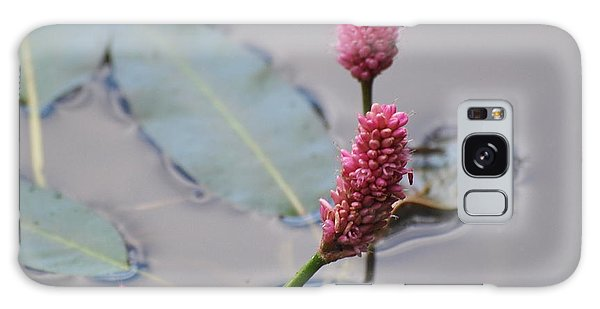 Pink Lily Pad Galaxy Case