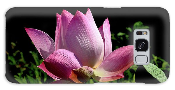 Pink Lotus  Galaxy Case by Jeannie Rhode