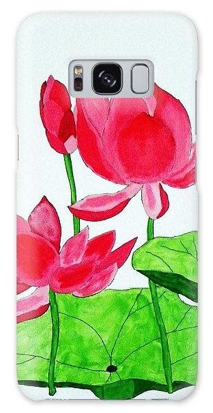 Pink Lotus Galaxy Case by Joseph Frank Baraba