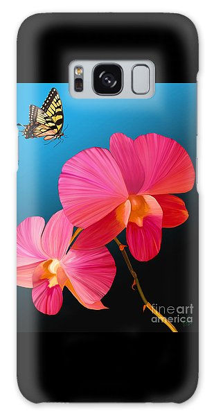 Pink Lux Butterfly Galaxy Case
