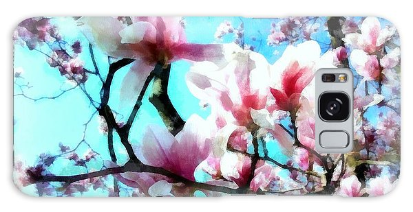 Pink Magnolia Galaxy Case