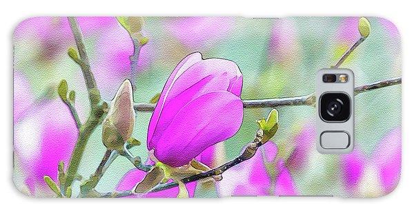 Pink Magnolia  Galaxy Case
