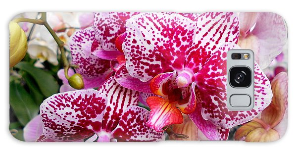 Pink Moth Orchids Galaxy Case