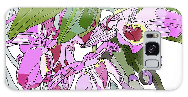 Pink Orchid Bunch Galaxy Case