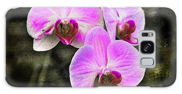 Pink Orchid Galaxy Case