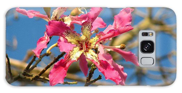 Pink Orchid Tree Galaxy Case by Carla Parris
