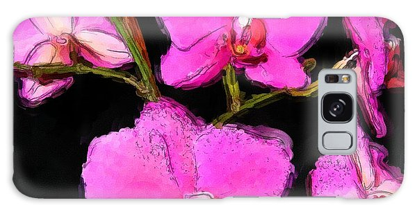 Pink Orchids Galaxy Case by Dennis Lundell
