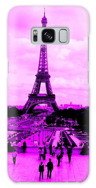 Galaxy Case featuring the photograph Pink Paris by Michelle Dallocchio