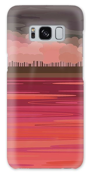 Pink Park Galaxy Case by Val Arie