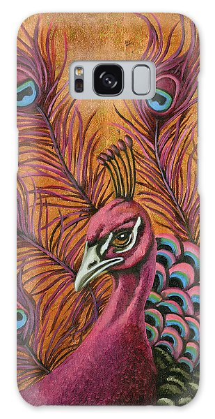 Pink Peacock Galaxy Case by Leah Saulnier The Painting Maniac